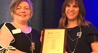 Centre Receives SAC Award of Excellence